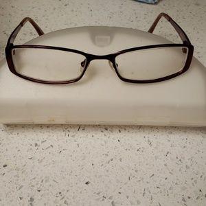 Jill Stuart Women's Red Metal Eyeglass Frames